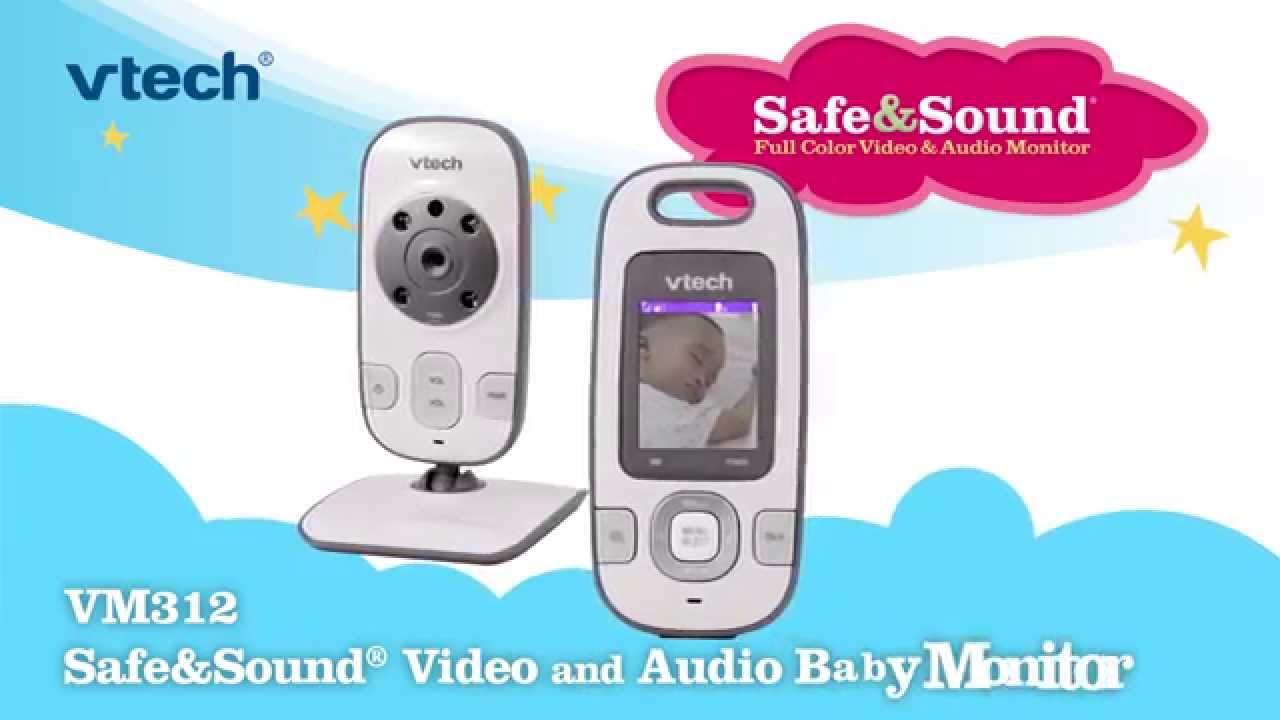 Vtech 174 Vm312 Full Color Video Audio Baby Monitor Babies