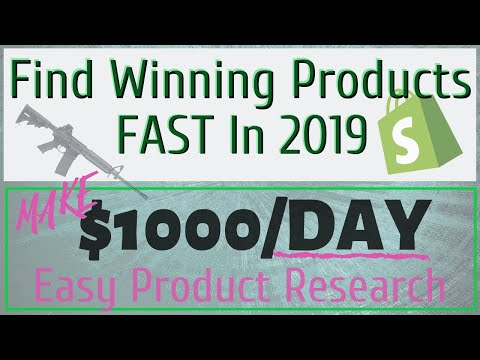 The [Best] & Only Way To Find Winning Products To Dropship In 2019 - Shopify Wordpress eBay Amazon thumbnail