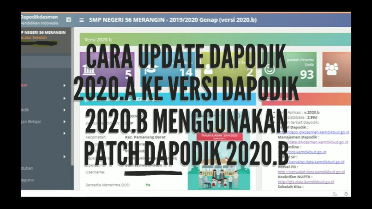 CARA MELAKUKAN UPDATE APLIKASI DAPODIK 2020.A KE VERSI ...