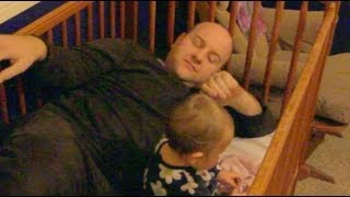 Dad Climbs Into Baby Crib!