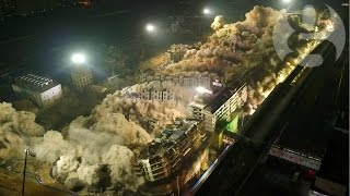 Boom or bust: 19 buildings demolished in 10 seconds in China