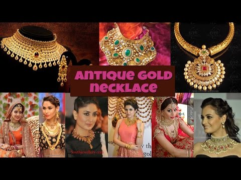 ANTIQUE GOLD NECKLACE DESIGN