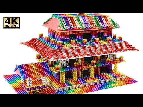 DIY - Build Pavilion Temple (金閣寺) From Magnetic Balls (Satisfying & relax) | Magnet World Series