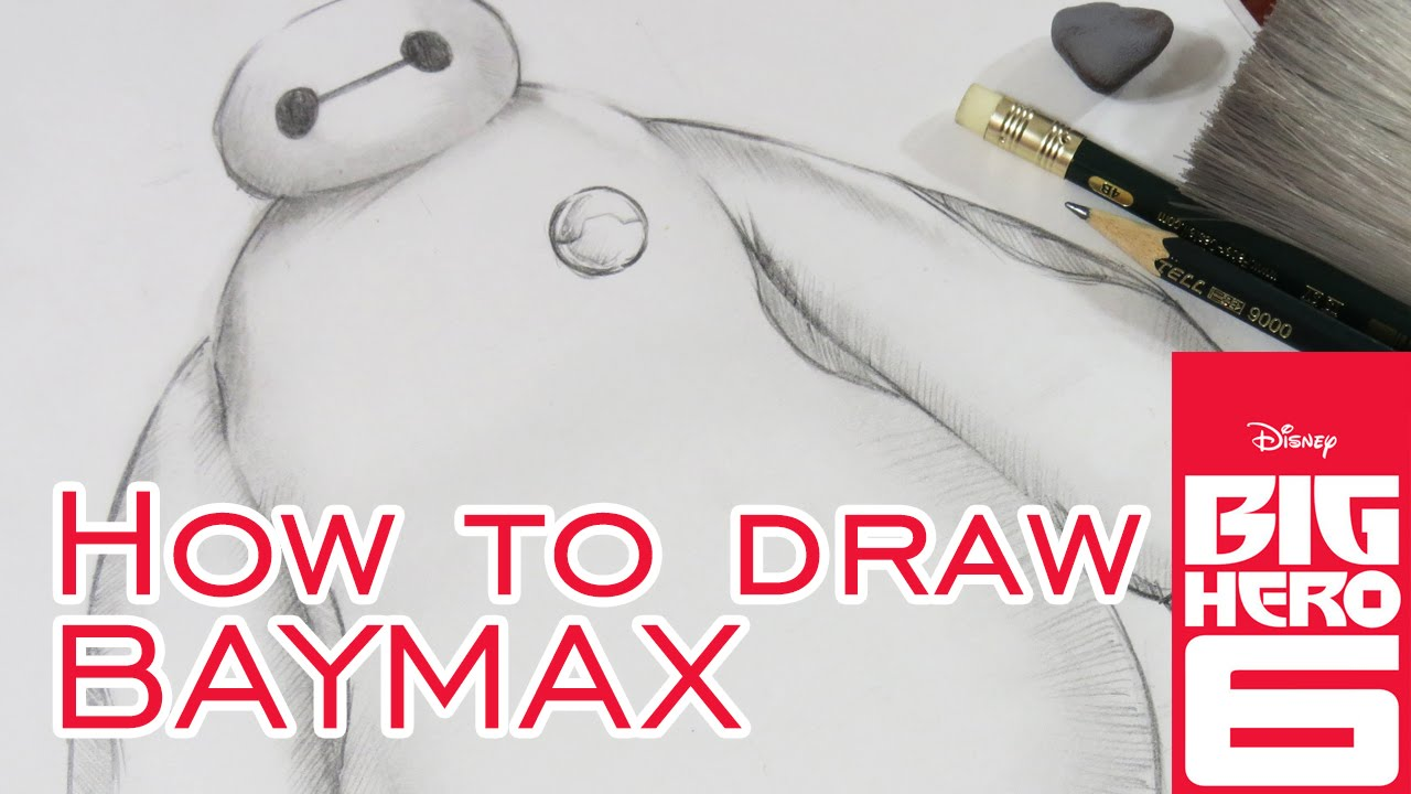 How to draw baymax from big hero 6 disney pencil sketch
