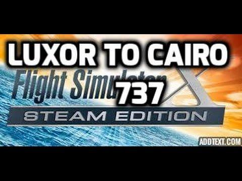 FSX Luxor to Cairo 737 Cargo