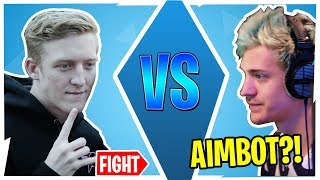 TFUE AND NINJA 1V1 IN PUBLIC LOBBY! *BOTH POV*