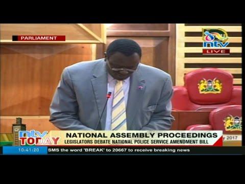 National Assembly proceedings on National Police Service (Amendment) Bill