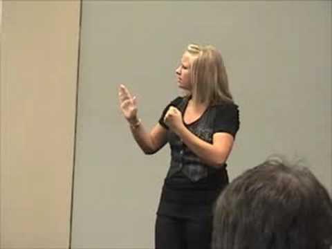 Sarah Bosworth Sign Language Solo National FAF 2008