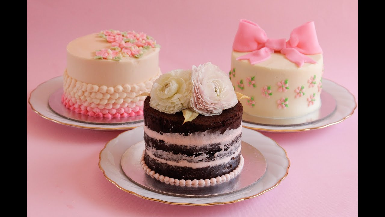 3 easy mini buttercream cakes- Rosie\'s Dessert Spot - YouTube