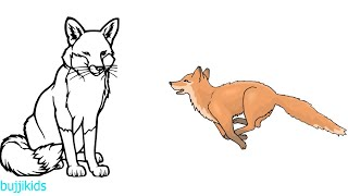 How to Draw a Fox for Kids | Learn to Draw | Fox Line Drawing and Drawing Ideas