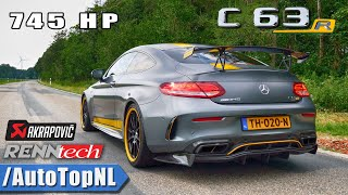 745HP AMG C63 R LOUD! Akrapovic EXHAUST Sound REVS & Onboard by AutoTopNL