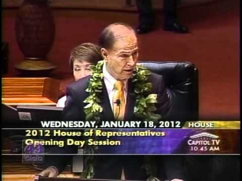 Opening Day Speech State of Hawaii House of Representatives by Minority Leader Gene Ward
