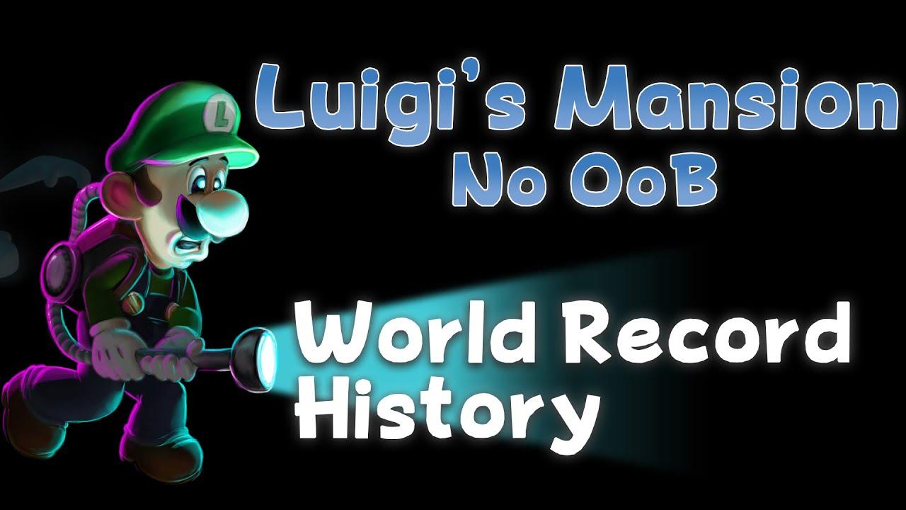 Luigi's Mansion - No OoB Speedrun World Record History