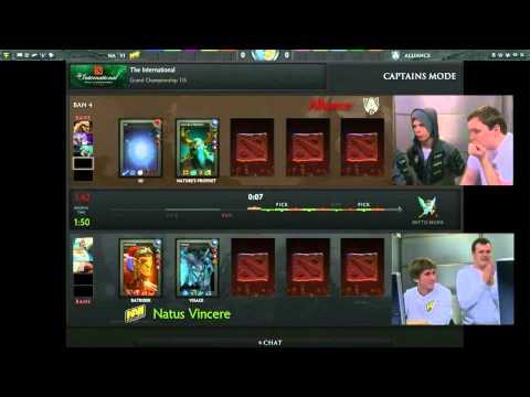 Alliance vs Na'Vi Grand Final Game 1 of 5 The International 3