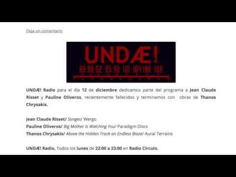 UNDÆ! Radio nº 135 — 12.12.2016