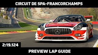 Gran Turismo Sport - Preview Lap Guide - Circuit de Spa-Francorchamps (Mercedes-AMG GT3)