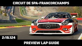 Gran Turismo Sport - Preview Lap Guide - Circuit de Spa-Francorchamps (Mercedes-AMG GT3)