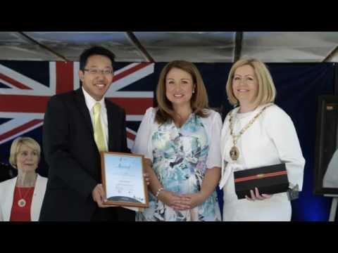 "Ivan Leung was awarded with City of Perth's ""Citizen of the Year Under 25"" on Australia Day"