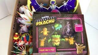 Pokemon Detective Pikachu Figures Multi-Pack Box Full of Pokemon Toys Pikachu Mewtwo Lunala Flareon