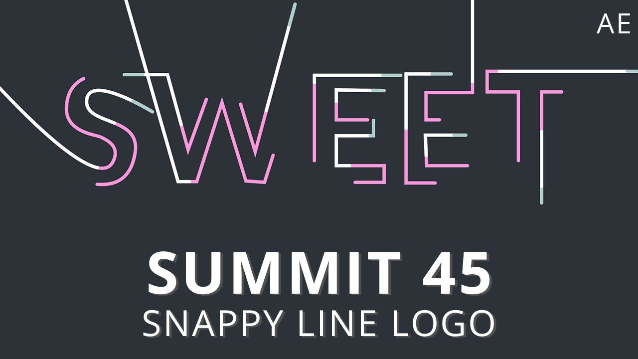 Line Art In After Effects : Summit snappy line logo after effects youtube