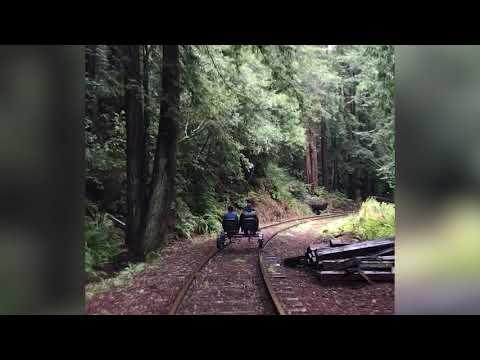All aboard Mendocino's rail bikes!