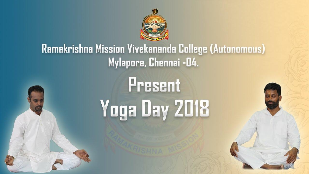 International Yoga Day @rkmvc.ac.in 2018