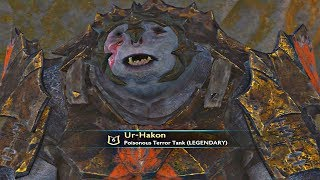 Shadow of War - Level 60 Boss Shamed To Level 0 Becomes TOTALLY Unstable