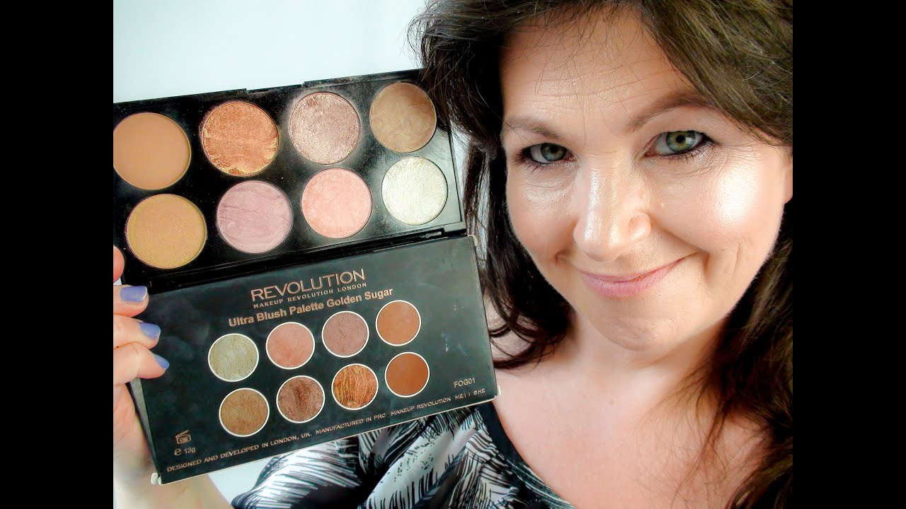 Makeup Revolution Blush pallete Golden Sugar full swatch and review JULY 2016