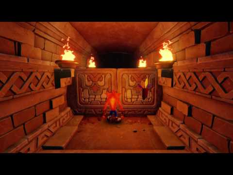 Crash Bandicoot 1 Temple Ruins clear Gem