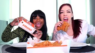 POPEYES MUKBANG WITH BLOVESLIFE!!!! ( hilarious) - Salice Rose
