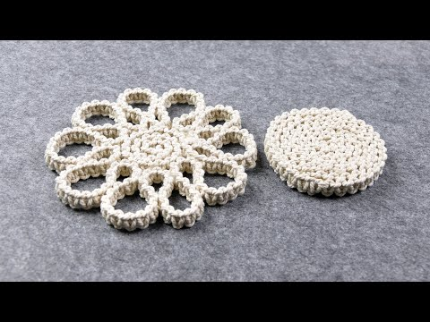 DIY Easy Macrame Coaster using Waste Cords