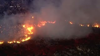 A 75-acre brush fire erupted in the Riverside community of Juniper Flats near Nuevo I ABC7