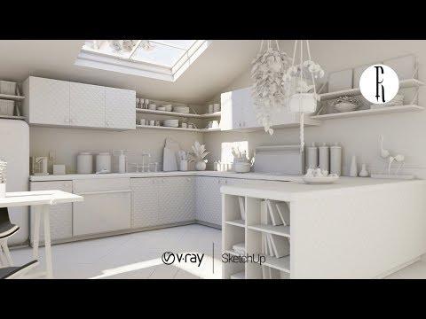 Daylight Interior Rendering Tutorial   VRay Sun + Environment Background (GI)