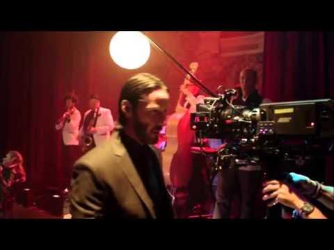 """""""John Wick"""" Keanu Reeves & violin solo [Behind the Scenes]"""