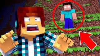 O HEROBRINE EXISTE E APARECEU NO MEU VÍDEO !! - Minecraft Herobrine
