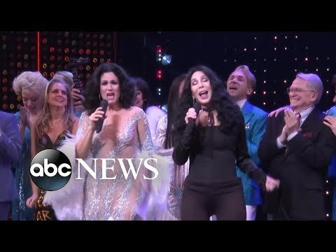 Cher gets on stage for surprise performance after The Cher Show opening