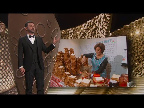 Jimmy Kimmel's Mom Makes PB&J for Emmys Audience