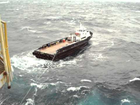 Crew Boat Stuck Offshore-2