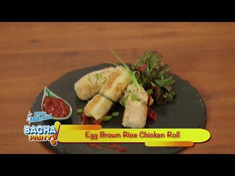 Egg Brown Rice Chicken Roll - Gurdip Punjj - Bacha Party