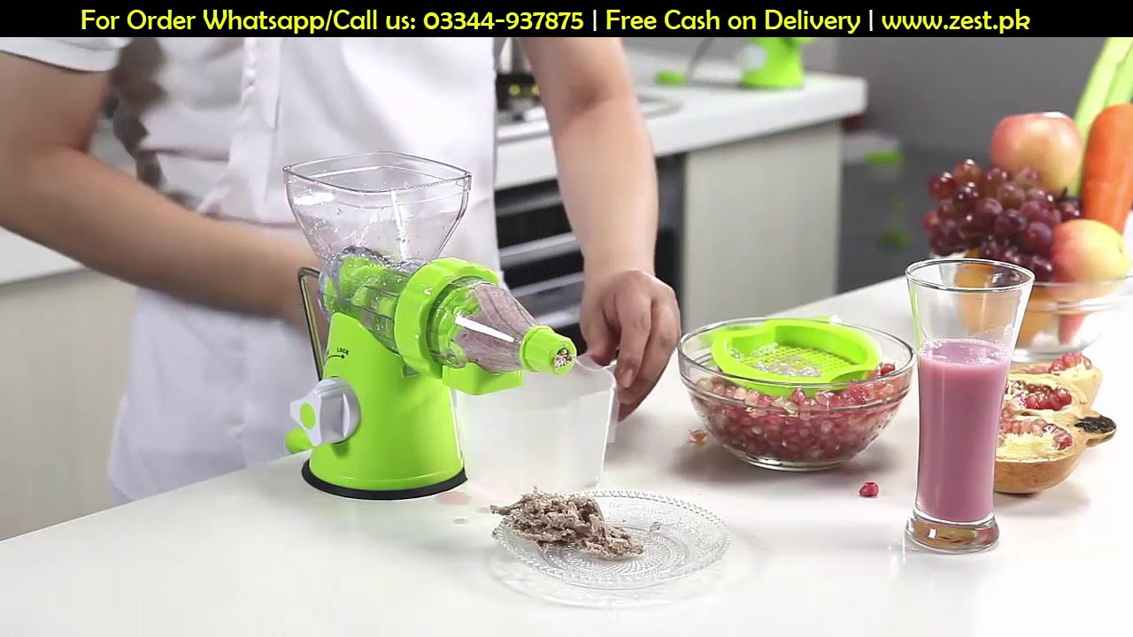 Multi Function Manual Hand Juicer Machine In Pakistan Youtube