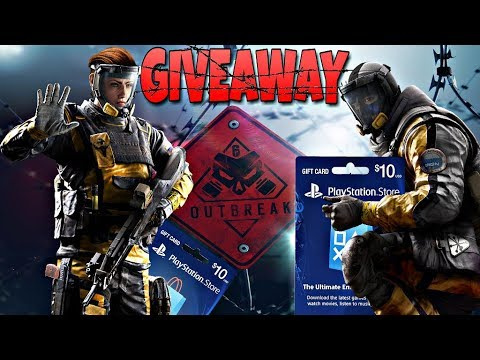 PlayStation Gift Card GIVEAWAY [Rainbow Six Siege] Operation Outbreak & Chimera