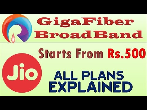 Reliance JIO Giga Fiber BroadBand FTTH service about to lauch || Complete Plans' Details !!!