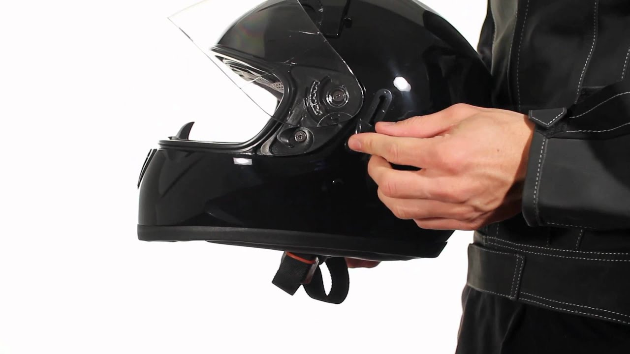 92fbb2f6 ST-1150 Hawk Dual Visor Glossy Black Full Face Motorcycle Helmet at  LeatherUp.com