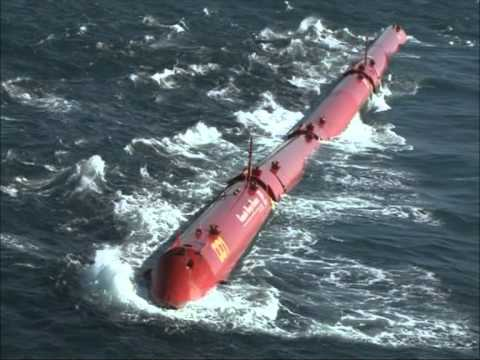 Pelamis at Aguçadoura Wave Farm - YouTube