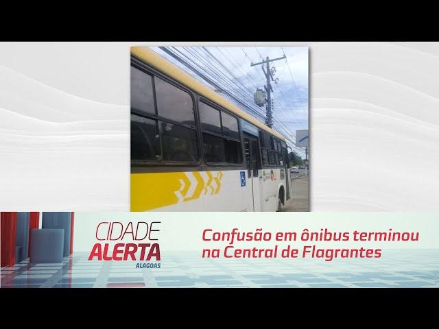 Confusão em ônibus terminou na Central de Flagrantes