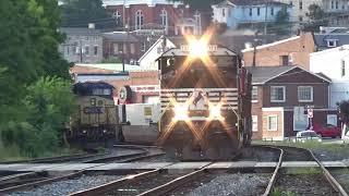 Railfanning in Cumberland, MD - CSX, NS, CN, Amtrak, and WMSR!