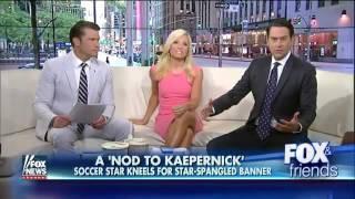 U.S. Women's Soccer Star Megan Rapinoe Kneels During National Anthem In Support Of Colin Kaepernick!