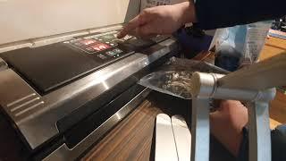 듀얼 진공포장기 MS180 진공포장 사용영상