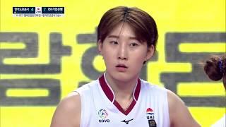 180327 한국도로공사 vs IBK기업은행(챔프 3차전) 박정아 선수 cut