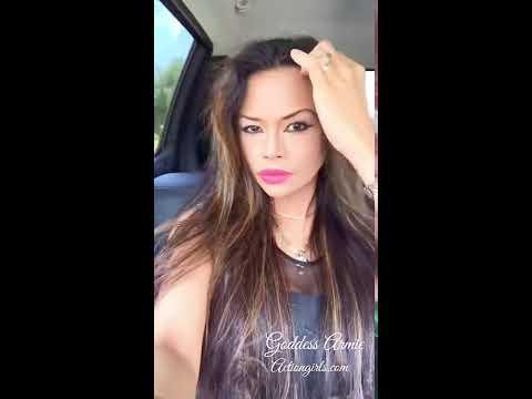 Armie Goddess Filipina Super Model Selfie Video driving